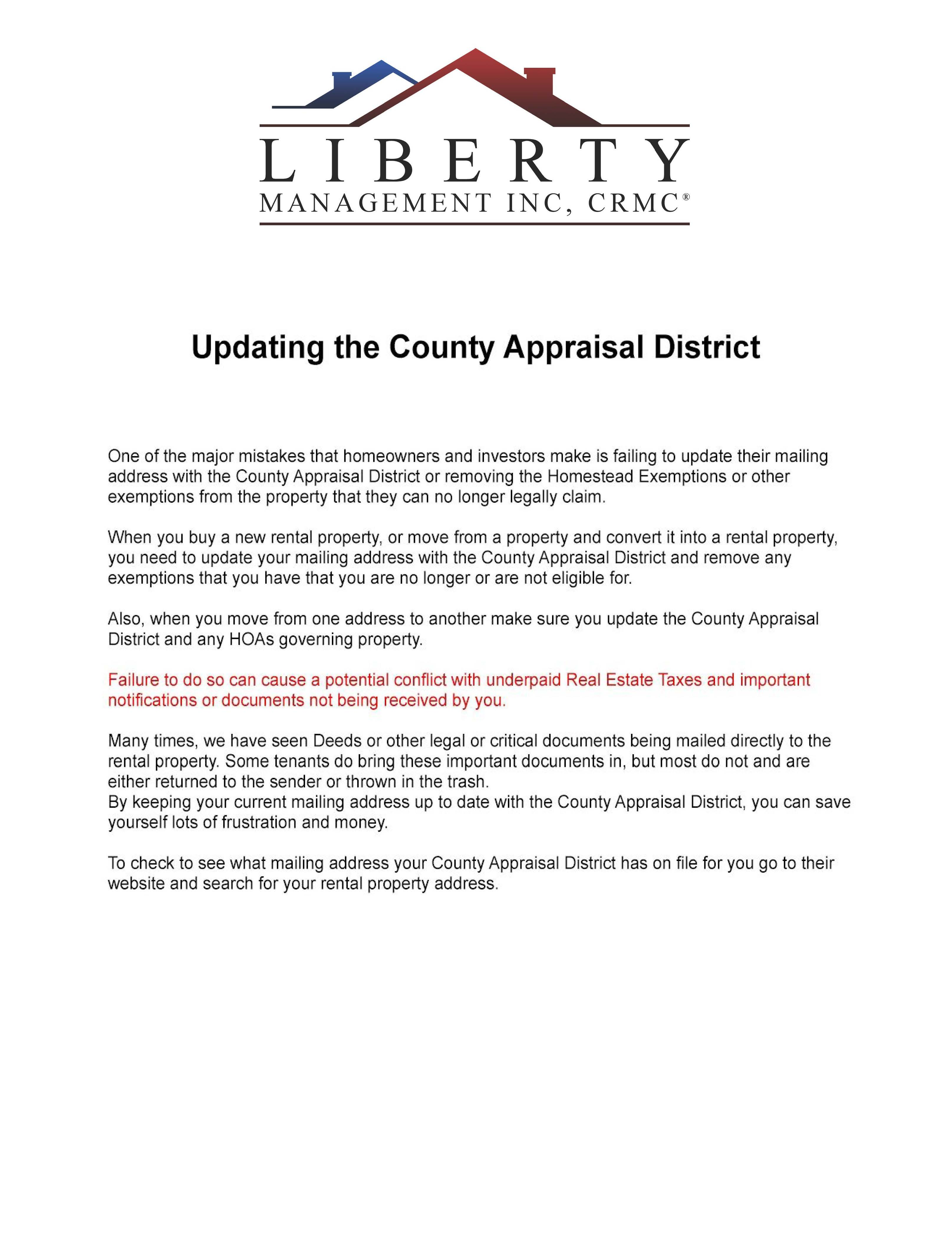 Updating the Bexar County Appraisal District